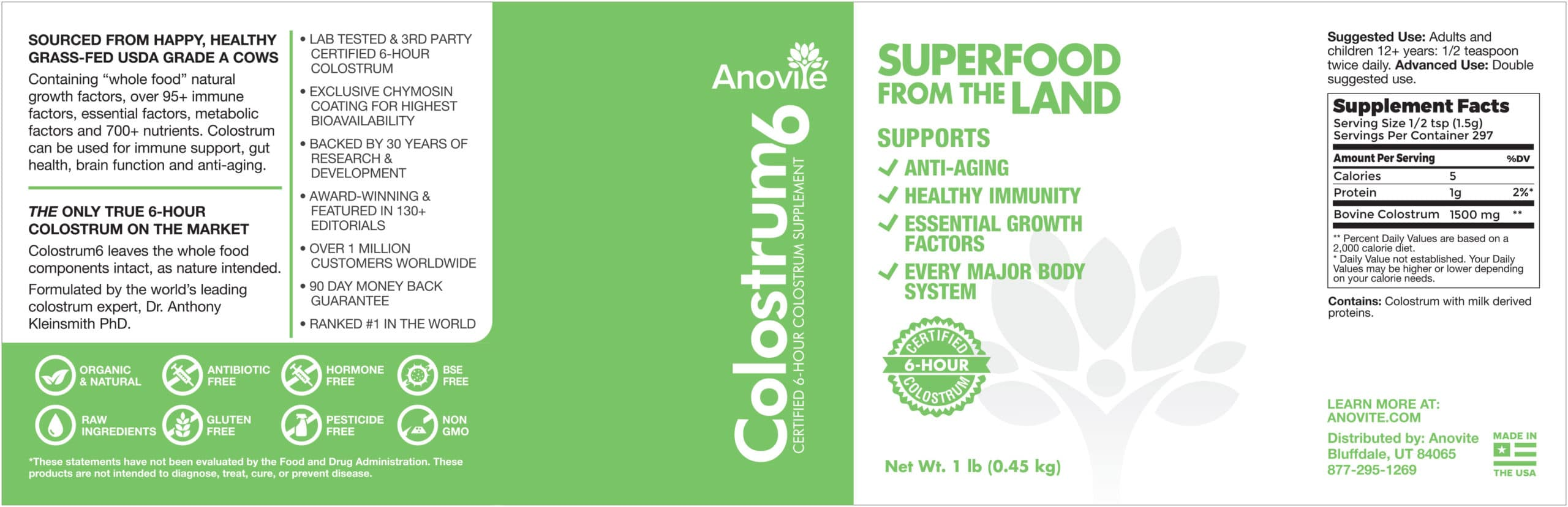 Anovite-Colostrum6-1lb-Jar